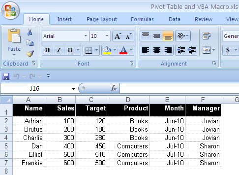 Data in a Pivot Table How to Update the Data in a Pivot Table